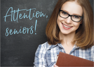 Teenage Girl with glasses holding book