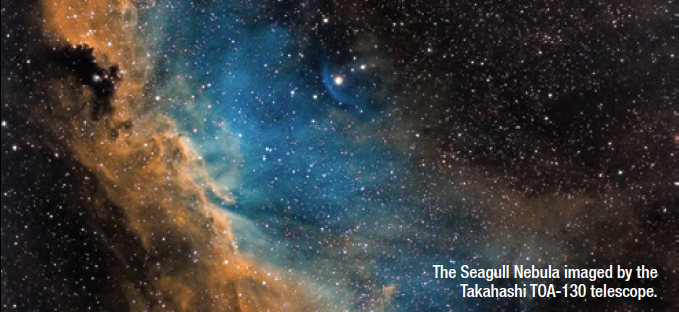 The Seagull Nebula imaged by the Takahashi TOA-130 telescope.